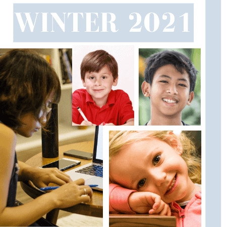 Winter 2021 - Regular children and teens classes - Click to enlarge picture.