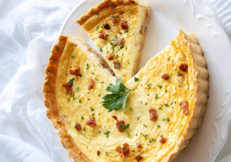 French cook at home - Quiche lorraine